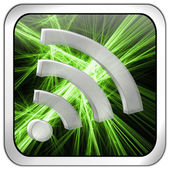 Wireless WiFi Wlan button — Stock Photo