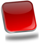 Red blank Button — Foto Stock