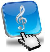Botão de música com cursor — Foto Stock