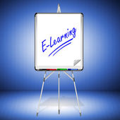 Flipchart E-Learning — Stock Photo
