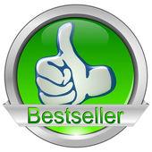 Przycisk bestsellerem — Zdjęcie stockowe