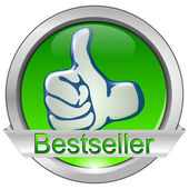 Schaltfläche bestseller — Stockfoto