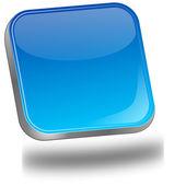 Blue blank Button — Stock Photo
