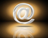 Email symbol 3d — Stock Photo