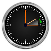 Clock with daylight saving time — Foto de Stock
