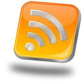 Wireless WiFi Wlan button — Stock Photo