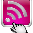 Stock Photo: Wireless WiFi Wlan button with cursor