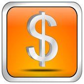 Кнопка со знаком доллара — Стоковое фото