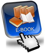 E-Book Button with Cursor — Stock Photo