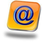 Przycisk e-mail — Zdjęcie stockowe