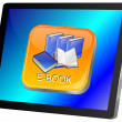 Tablet Computer with E-Book button — Stock Photo