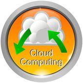 кнопка облачных вычислений — Стоковое фото