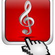 Stock Photo: Music Button with cursor