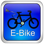 E-Bike Button — 图库照片