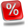 Royalty-Free Stock Photo: Discount button with percent symbol