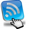 Wireless WiFi Wlbutton with cursor — Foto Stock #25200671