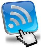 Wireless WiFi Wlan button with cursor — Stock Photo