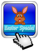 Button Easter Special with easter bunny with cursor — Stock Photo