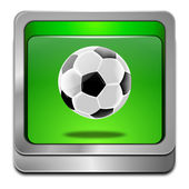 Button with soccer ball — Stock Photo
