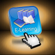 E-Learning Button with Cursor — Foto Stock