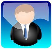 App con icona utente — Foto Stock