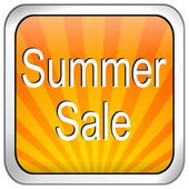Button summer sale — Stock Photo