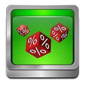 Discount button — Stock Photo