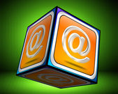 E-Mail Button 3d — Stock Photo