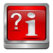 Tlačítko informace a otázka — Stock fotografie