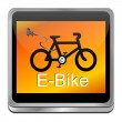 Stock Photo: E-Bike Button