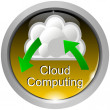 Stock Photo: Button Cloud Computing