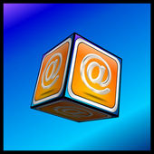 E-Mail Button 3d — Stock Photo