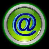 Pulsante e-mail — Foto Stock