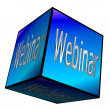 Webinar button 3d — Stock Photo