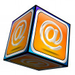 Stock Photo: E-Mail Button 3d