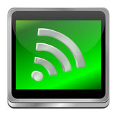 Wireless WiFi Wlan button — 图库照片