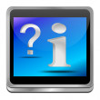 Information and question button — Stock Photo