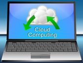 Laptop Cloud Computing — Stock Photo