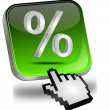 Stock Photo: Discount button with percent symbol and cursor