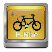 кнопка e-велосипед — Стоковое фото