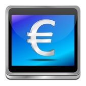 Button with Euro sign — Stock Photo