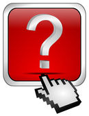 Button with question mark — Stock Photo