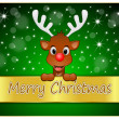 Reindeer wishing Merry Christmas — Stock Photo #34236329