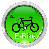 E-bike-schaltfläche — Stockfoto