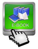 Tlačítko e knihy s kurzorem — Stock fotografie