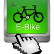 E-Bike Button with Cursor — Stock Photo #35226167
