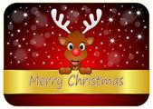 Reindeer wishing Merry Christmas — Stock Photo