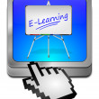 E-Learning Button — Stock Photo