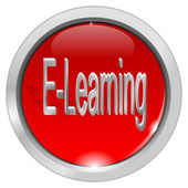 E-Learning Button — Stockfoto