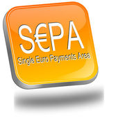SEPA - Single Euro Payments Area - Button — Stock Photo